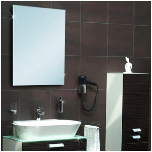Badspiegel 500 x 500 mm (6-mm Kristallspiegel) Schnittkanten