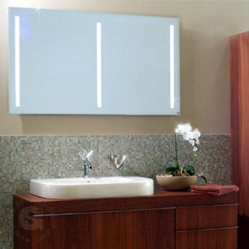 Badspiegel MILANO PUR T5 hinterleuchtet 800 x 650 mm