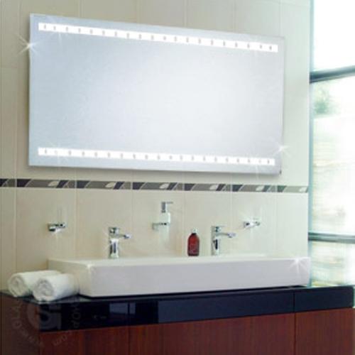 Badspiegel PREMIUM LINEA T5 hinterleuchtet 1000 x 800 mm