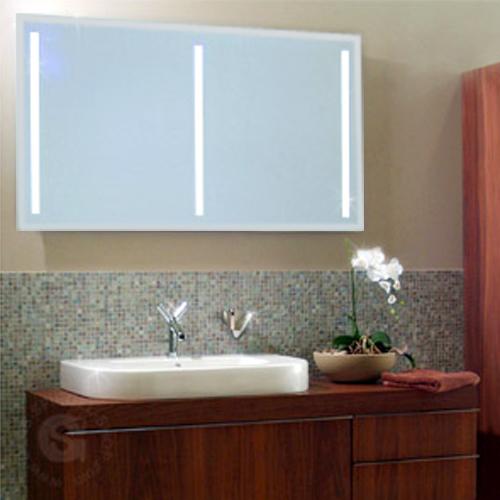 Badspiegel MILANO PUR T5 hinterleuchtet 1500 x 1000 mm Facette